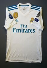 5+/5 Real Madrid 2017 2018 Football Jersey Home Adizero Player Issue s. S Adidas