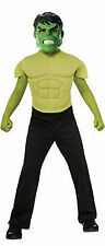 Marvel Avengers Hulk Muscle Chest Costume Shirt Mask Size Medium 8 - 10 Boys