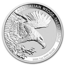 2020 Perth Mint Aust. Wedge-Tailed Eagle 1oz .9999 Silver Bu. Coin Mint Capsule.