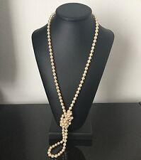 Grand Collier Vintage Fausses Perles Sautoir Necklace