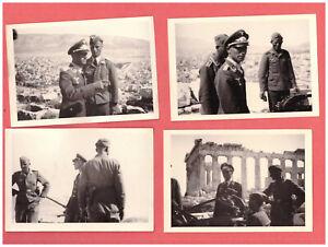 4 Original Fotos hoher Luftwaffen Offizier in Athen Akropolis Griechenland Greec