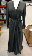 DEVORAHS SECRET Modest Robe Front Zipper HEATHER GRAY SPARKLE SMALL NWT