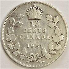 CANADA 1931 SILVER 10 CENT COIN KM# 23a [102]
