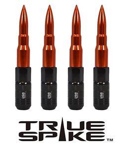 20 TRUE SPIKE 121MM 12X1.5 ORANGE EXTENDED STEEL TUNER SPIKED BULLET LUG NUTS B