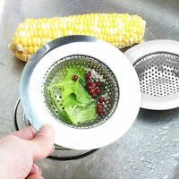 """2x 4.5"""" Kitchen Sink Strainer Stainless Steel Mesh Bath Drain Stopper Filter"""