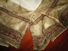 "CROSCILL TOWNHOUSE BURGUNDY GREEN GOLD (1) KING BEDSKIRT 14"" DROP SPLIT"