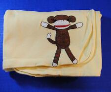 Gymboree Monkey & Friends Yellow Unisex Baby Blanket Boy Girl 2006 Outlet Lovey