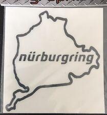 Nurburgring Car Sticker. Black. Self Adhesive Graphic.