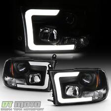 Black 2009-2018 Dodge Ram 1500 2500 3500 Led Tube Projector Headlights Headlamps (Fits: Dodge)