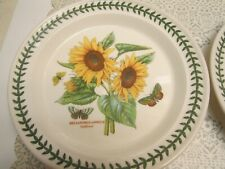 2 PORTMEIRION BOTANIC GARDEN SUNFLOWERS Dinner Plates England New with Tags