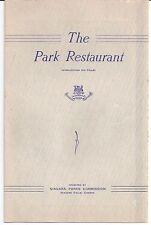 1940's THE PARK RESTAURANT Overlooking NIAGARA FALLS Canada