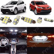 8x White LED lights interior package kit for 2013-2015 Toyota RAV4 TR3W