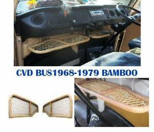 VW T2 BUS KOMBI 1968-1979 BAMBOO UNDER DASH TRAY 3PCS .