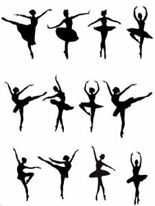 12 pre cut BALLERINA SILHOUTTE - Edible Cupcake Wafer/ Rice Paper or Icing