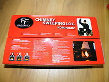 KOMINIARZ 1x CHIMNEY fireplace flue SWEEPER CLEANING LOG SOOT cleaner RED