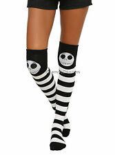 Disney The Nightmare Before Christmas Ladies Striped Over-The-Knee Hi Socks  1PR