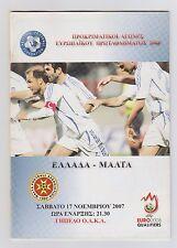 Orig.PRG  EM Qualifikation  17.11.2007   GRIECHENLAND - MALTA  !!  SELTEN