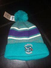 Charlotte Hornets NBA Light Blue Cuff Pom Winter Beanie Hat 47 Brand NWT
