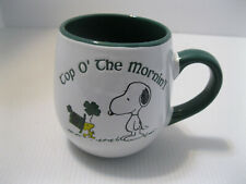 Snoopy And Woodstock Coffee Mug Top O' The Mornin'! St. Patrick's Day Green