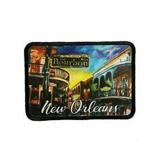 New Orleans Bourbon Street Patch Travel Jazz Dye Sublimation Iron On Applique