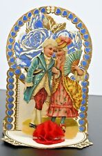 Vintage Victorian 1920s Valentines Day Greeting Card 3D Display Fold-Out Germany