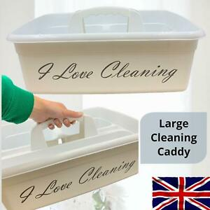 Cleaning Caddy Large Basket Organizer Carry Tray Tote Kitchen Storage Handle