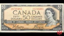 1954 Bank Of Canada 50$ Modified Beattie/Coyne A/H6716485 - VF/EF -