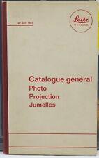 LEITZ  Catalogue général Photo projection Jumelles 1er juin 1967 LEICA