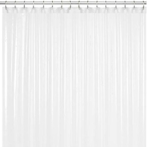 LiBa Mildew Resistant Anti-Microbial PEVA 8G Shower Curtain Liner 36x72, White