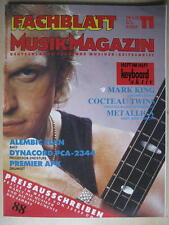 FACHBLATT MUSIK MAGAZIN 1988 # 11 - MARK KING METALLICA  COCTOEAU TWINS DYNACORD
