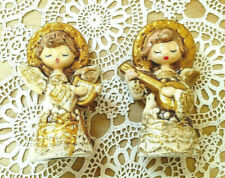 New ListingPair Of Vintage Angels Figurines Playing Musical Instruments Collectible Decor