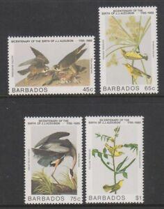 Barbados - 1985, J Audubon, Birds set - MNH - SG 784/7
