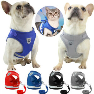 Cat Walking Jacket Harness and Leads Escape Proof Pet Dog Adjustable Mesh Vest