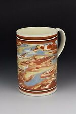 18th Century Mocha Ware / Mochaware Mug in Slip Marble Decoration