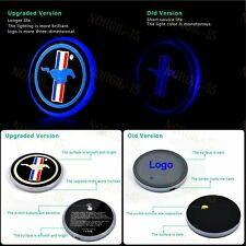 LED Car Cup Bottle Holder Pad Mat for Ford Mustang Auto Atmosphere Lights Deco