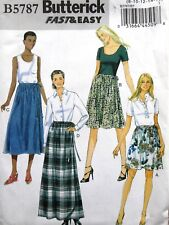 BUTTERICK B5787 FAST & EASY WRAP SKIRT w/TIE 4 STYLE PATTERN MISS PLUS SIZE 8-24