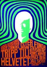 THE TRIP Movie POSTER 11x17 Swedish Peter Fonda Susan Strasberg Bruce Dern