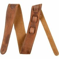 Fender Road Worn Leather Guitar Strap, Brown