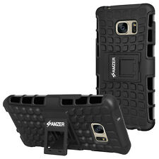 Amzer Hybrid Warrior Case - Black for Samsung GALAXY S7 Edge