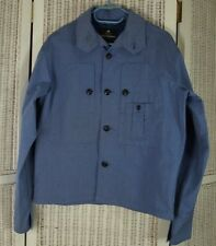 NIGEL CABOURN Chest Pocket Jacket 44″ Chest Blue Lightweight Lined Chore Coat