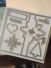 "Sizzix ""Big Shot SNOWFLAKE CARD THINLETS"" NEW Stampin'UP! NIP set/9 dies"