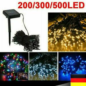 100-500LED Solar Lichterkette Kette Weihnachtsbaum Außen Innen Garten Party Deko