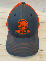 MELVIN BREWING Baseball Cap Hat Gray w Orange Mesh Snapback Beer Brewery EXCEL