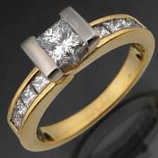 Bright Modern 18k Solid Yellow GOLD FINER Quality DIAMOND RING Val=$5275 Sz N
