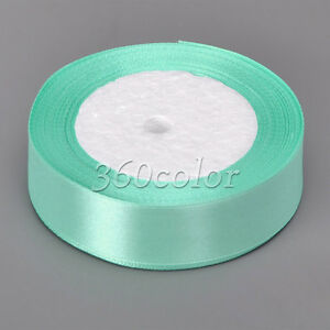 25 Yards 6mm to 50mm Satin Ribbon Gift Bow Wedding Supply Party Craft Decoration