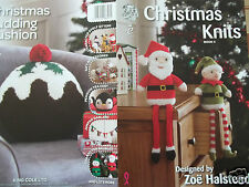 CHRISTMAS KNITS ELF SANTA ON THE SHELF SNOWMAN KNITTING PATTERN KING COLE BOOK 4