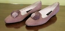 STUART WEITZMAN FOR MR SEYMOUR LAVENDER SUEDE LOW PUMPS NEVER WORN SIZE 8 B EPC!