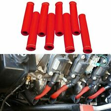 8Pcs 2500°F Spark Plug Wire Boots Protector Sleeve Heat Shield Cover For LS1/LS2