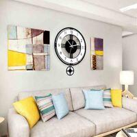 Swingable Silencieux Grande Horloge Murale Design Moderne à Piles Horloges  B2L3