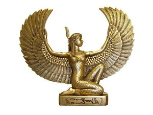 Goddess Isis Maat resin statue egyptian goddess